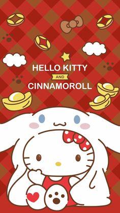 Hello kitty and cinamoroll  Wallpaper