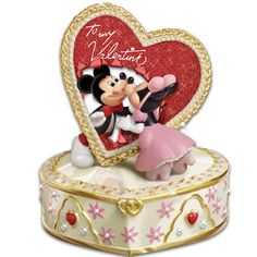"""Disney's """"Let Me Call You Sweetheart"""" Valentine's Day Music Box by The Bradford Exchange  #Disneys #Sweetheart #Valentines #Day #Music #Box #Bradford #Exchange"""