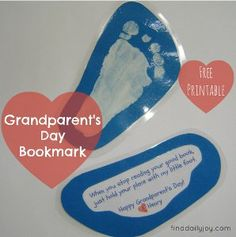 Let Grandma and Grandpa know how much you love them with this easy printable bookmark!