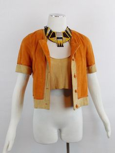 Vintage EMPORIO ARMANI  2 Pc All SUEDE Cropped by Douvintage, $375.00