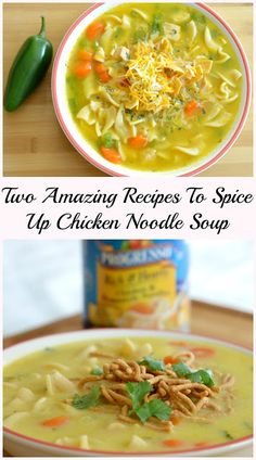 Easy Chicken Noodle Soup Recipes With A Mexican & Thai Twist. Stock up on Progresso @walmart! #qualityingredients #ad