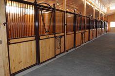 Lucas Equine Stalls at Iron Horse Farms in Colorado