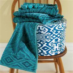 Bedeck Suzani Guest Towel, Teal