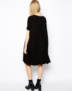 Asos Tall T-Shirt Dress With Short Sleeves