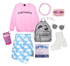 """""""Melanie Martinez Inspired Outfit"""" by adrisabel163 on Polyvore featuring Chicnova Fashion, Chiara Ferragni, Suzy Levian, Blanc & Eclare and Fiebiger"""