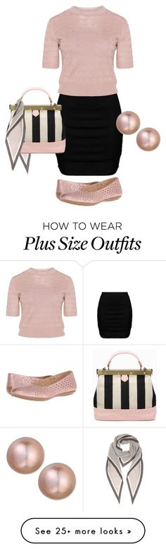 """""""Simple and Clasic"""" by barbaratweten on Polyvore featuring Zizzi, Naturalizer, Loro Piana, Belpearl, plussizefashion and spring2016"""