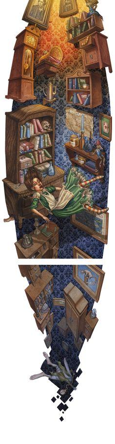 Alice in Wonderland pop-up by Jaume Vilanova in Alice in Wonderland: 50+ Impressive Artworks