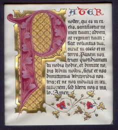 I remember mass in Latin and my dad knowing all the prayers in Latin Calligraphy Drawing, Calligraphy Letters, Calligraphy Tutorial, Islamic Calligraphy, Medieval Manuscript, Medieval Art, Illuminated Letters, Illuminated Manuscript, Lettering Design