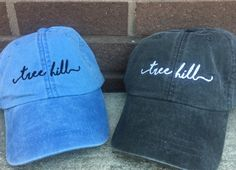 One Tree Hill Handwriting Script Baseball Caps Tree Hill