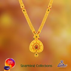 This long Polki haram with heart-in shaped pendant sure impresses you towards it right? #LalithaaJewellery