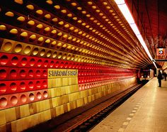 Staromestska Metro station in Prague, Czech Republic