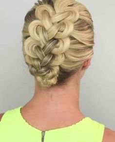 Braid #5 is this loop braid, which is literally just tying your hair in knots.