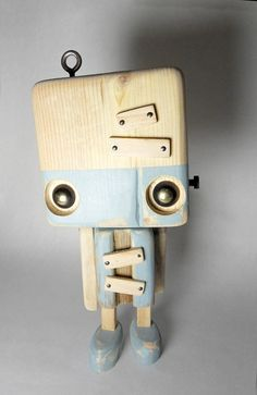 Reclaimed wood  the big blue robot