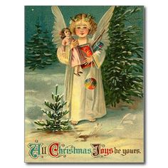 vintage holiday postcards | Vintage Christmas Postcard from Zazzle.com