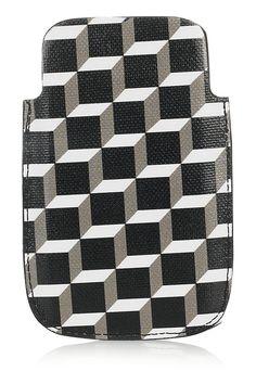 Pierre Hardy|Étui pour iPhone en toile enduite à motif cubique|NET-A-PORTER.COM
