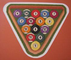 Cross Stitch Pattern Billiard Ball & Rack pdf by RogueStitchery