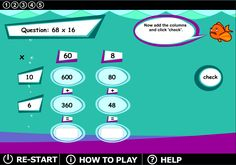 A fun and FREE way to practice double and triple digit multiplication with the area model.