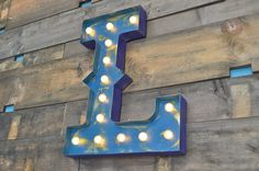 Retro Lighted Metal Letters need this for my house!!