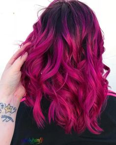 Lace Frontal Wigs Pink Blonde Hair Dip Dyed Pink For Girl – Balayage Haare Cute Hair Colors, Hair Dye Colors, Ombre Hair Color, Cool Hair Color, Magenta Hair Colors, Purple Ombre, Dark Pink Hair, Pink Blonde Hair, Bright Pink Hair
