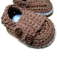 Crochet baby shoes Mary Jane button strap baby by EasyPeasyGrandma, $5.95