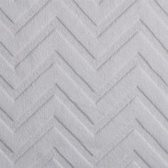 Plush addicts ivory chevron cuddle plush fabric
