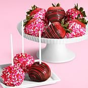 Strawberries + candy + chocolate =