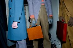 Briefcases and colour.