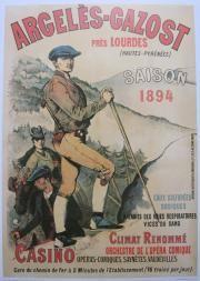 """D'apres une publicité des chemins de fer du midi """"Le guide, l'apprenti guide et la cliente"""" (1894) / Via www.livres-posters-pyrenees.com"""