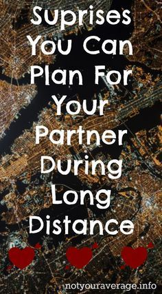 Long distance relationships can be extremely hard. One thing that has definately helped me and my partner get through it, is suprising each other with gifts or kind gestures, so we always have something to look forward to. Check out my list of ideas.