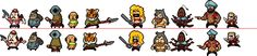 Click image for proper sizes or click these links: x x x I resprited all the party members in LISA: The Painful and it took me a week probably? Top: My sprites Bottom: original sprites Don't use or...