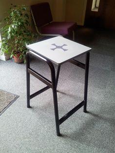 Solid grade laminate stool top-ideal for laboratories or art rooms Art Rooms, School Logo, Drafting Desk, Stool, Fabric, Home Decor, Tejido, Homemade Home Decor, Tela