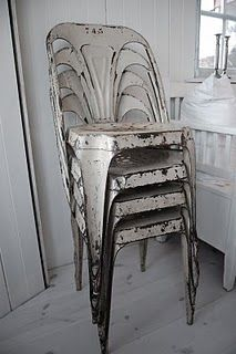 Vintage French Black Wrought Iron Distressed Ornate Clothes Rail
