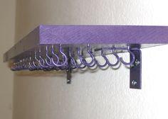 2 foot Jewelry Shelf Necklace Ring Bracelet Holder Organizer Bridesmaids Gift - YOU PICK COLOR - Customizable. $29.90, via Etsy.