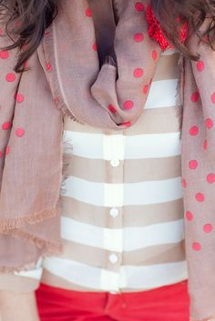 dots and stripes #delightfullychicfall