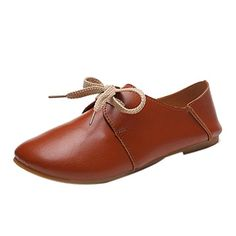 Tenworld Women Casual Ballet Driving Moccasins Comfort Slip On Flats Shoes 7 Brown * Click image for more details.