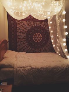 Canope bed with lights