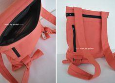 Feminine summer backpack Messenger bag Waterproof peach canvas bag Floral handmade women bag Lightweight bag Romantic chic bag Gift for her by misirlouHandmade