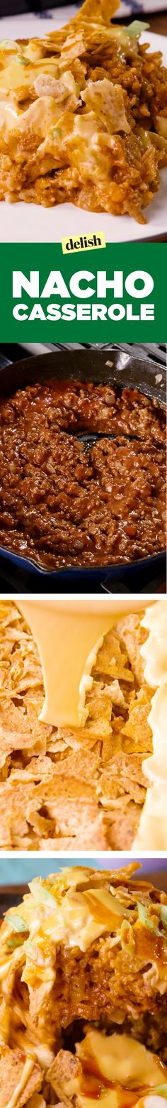 """One look at this Nacho Casserole will make you say """"I need to make this!"""" Get…"""
