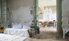 Chateau Dirac by Isabelle Dubois-Dumee and Hubert Bettan of Les Petites Emplettes, near Angouleme, shown at Remodelista.