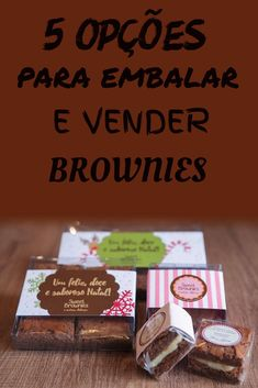 68 ideas for cookies packaging cooking Brownie Cookies, Brownie Shop, Brownie Pizza, Bake Sale Packaging, Brownie Packaging, Food Packaging, Easy Cookie Recipes, Brownie Recipes, Mini Desserts