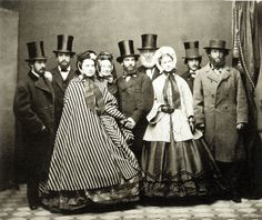deadfredcom:    legrandcirque:    Jeremiah Gurney, Parmly and Ward Families and Friends, April 1862.     My guess is that this was taken in the Boston area as Gurney,Parmly & Ward are blue blood names there