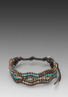 CHAN LUU Wrap Bracelet in Turquoise Mix