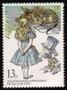 A stamp honouring Alice in Wonderland. Literary Stamps: Carroll, Lewis (1832–1898). - Reading, Libraries, Books & Spaces - #curtnerds