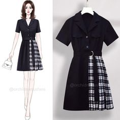 Fashion Drawing Dresses, Korean Fashion Dress, Blackpink Fashion, Cute Fashion, Fashion Outfits, Cosplay Outfits, Edgy Outfits, Girls Fashion Clothes, Looks Vintage