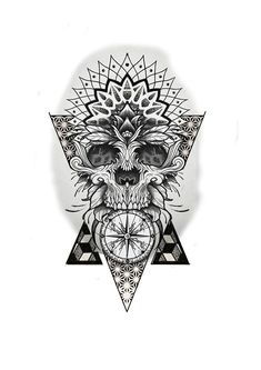 Tattoo (notitle) Family Vegetation And Pests Family vegetation are used so as to add magnificence to Mandala Tattoo Mann, Mandala Tattoo Design, Skull Tattoo Design, Skull Tattoos, Tattoo Designs Men, Leg Tattoos, Tattoos For Guys, Sleeve Tattoos, Geometric Tattoo Forearm