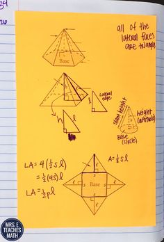 parts of pyramids interactive notebook page