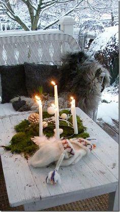 Scandinavian style: porch in winter
