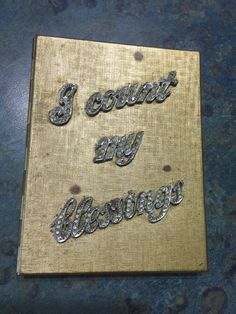 I Count My Blessings Rhinestone Purse Photo Case by LeftoverStuff