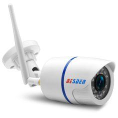 BESDER Yoosee Wifi ONVIF IP Caméra 1080 P 960 P 720 P Sans Fil Filaire P2P Alarme CCTV Bullet Caméra Extérieure Avec Fente Pour Carte SD Max 64G
