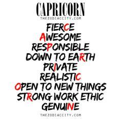 Describing Capricorn.For more information on the zodiac signs, clickhere.